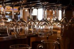 Vidrios para el vino Imágenes de archivo libres de regalías