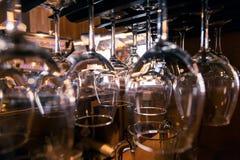 Vidrios para el vino Fotos de archivo