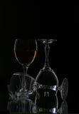 Vidrios para el vino Imagen de archivo