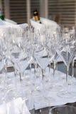 Vidrios para el vino Fotos de archivo libres de regalías