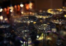 Vidrios para el vino y el champán fotos de archivo libres de regalías