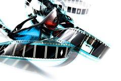 Vidrios plásticos de la proyección de imagen 3D de Anachrome Fotos de archivo