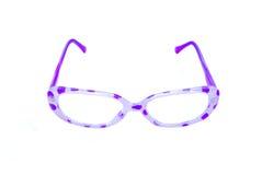 Vidrios punteados polca púrpura Imágenes de archivo libres de regalías