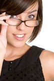 Vidrios que desgastan de la persona Foto de archivo libre de regalías