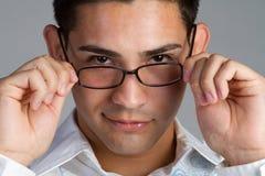 Vidrios que desgastan del hombre Fotografía de archivo