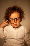 Vidrios que llevan del genio joven Foto de archivo