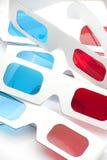 vidrios rojos y ciánicos de 3D Foto de archivo
