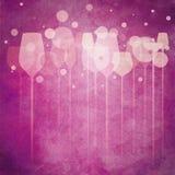 Vidrios rosados del partido Fotografía de archivo