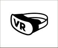 Vidrios simples de la realidad virtual del icono