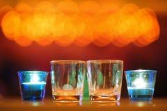 Vidrios vacíos Imagen de archivo libre de regalías
