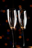 Vidrios vacíos del champán Fotografía de archivo libre de regalías