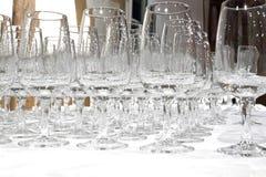 Vidrios vacíos del whisky imágenes de archivo libres de regalías