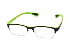 Vidrios verdes aislados en blanco Imagenes de archivo