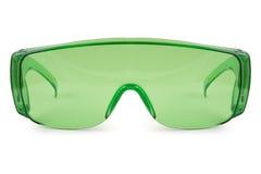 Vidrios verdes de la seguridad Fotografía de archivo