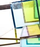 Vidrios viejos coloreados Fotos de archivo libres de regalías
