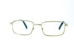 Vidrios viejos del ojo aislados fotografía de archivo