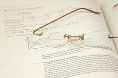 Vidrios y las estadísticas Fotos de archivo