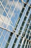 Vidro, alumínio e cimento Fotos de Stock Royalty Free