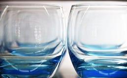 Vidro azul imagens de stock