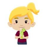 Vidro bebendo da menina da limonada Foto de Stock