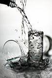 Vidro cheio da água Foto de Stock Royalty Free