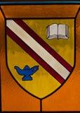 Vidro colorido colorido na igreja. imagem de stock royalty free
