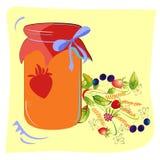 Vidro colorido do atolamento com flores da floresta Foto de Stock