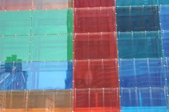 Vidro colorido, do plástico foto de stock