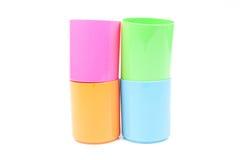 Vidro colorido empilhado fotos de stock