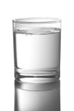Vidro com água fotos de stock