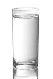Vidro com água foto de stock