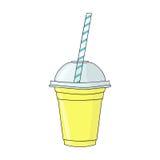 Vidro com batido Bio bebida natural, alimento biológico saudável Ha ilustração do vetor