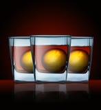 Vidro com bebida Foto de Stock Royalty Free