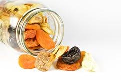 Vidro com frutas secadas Imagens de Stock Royalty Free