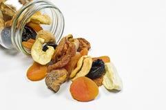 Vidro com frutas secadas Imagem de Stock