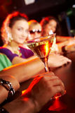 Vidro com martini Fotografia de Stock Royalty Free