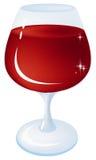 Vidro com vinho Fotos de Stock
