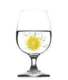 Vidro da água com limão - conceito Foto de Stock Royalty Free