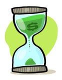 Vidro da areia com sinal de dólar Fotografia de Stock Royalty Free