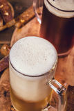 Vidro da cerveja acima Fotos de Stock