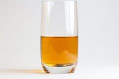 Vidro da cerveja no fundo branco Fotos de Stock