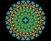 Vidro da igreja, vidro manchado ilustração stock