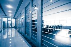 Vidro da porta do corredor do escritório Imagem de Stock Royalty Free