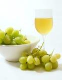 Vidro da uva e de vinho Fotografia de Stock Royalty Free