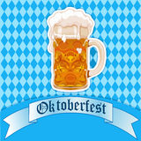 Vidro de cerveja de Oktoberfest Imagem de Stock Royalty Free