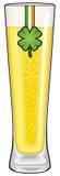Vidro de cerveja do dia do St. Patrick isolado Fotografia de Stock
