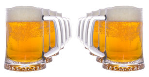 Vidro de cerveja fria Fotografia de Stock