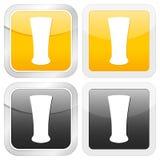 Vidro de cerveja quadrado do ícone ilustração do vetor