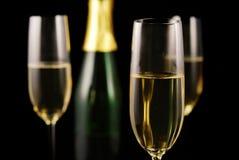 Vidro de Champagne Fotos de Stock Royalty Free