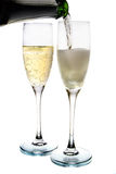 Vidro de Champagne Fotografia de Stock Royalty Free